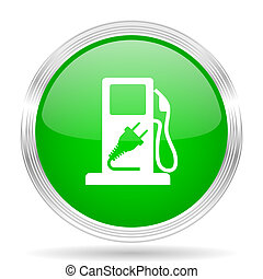 fuel green modern design web glossy icon