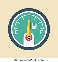 Fuel Icon. Vector Gasoline Dashboard Symbol.