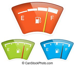 Fuel indicator illustration