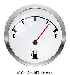 Fuel indicator. Illustration on white background for design