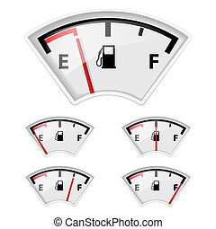 Fuel indicator. - Set of fuel indicators with different...