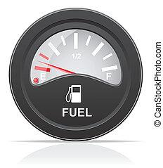 fuel level indicator vector illustration