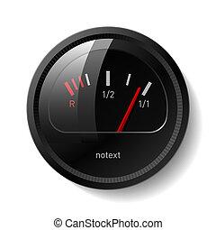 Vector illustration of a fuel gauge