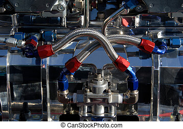 Fuel Lines on Hotrod Engine - Carburators and Fuel Lines on...