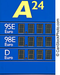 fuel material prices at the electronic panel