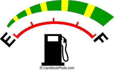Fuel meter - Illustration of a fuel meter with heart