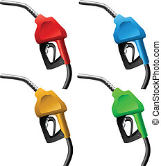 Fuel nozzle set in different colors