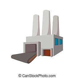 Fuel power station cartoon icon