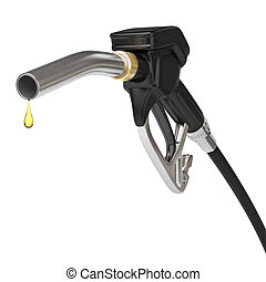 Fuel pump nozzle - Very high resolution 3d rendering of an...
