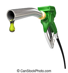 Fuel pump nozzle - Very high resolution 3d rendering of a...