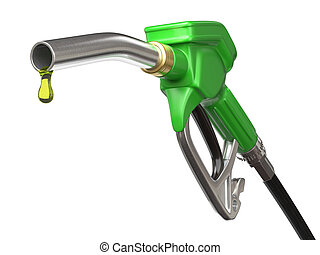 Fuel pump nozzle - Very high resolution 3d rendering of a ...
