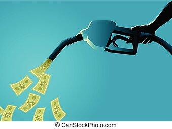 Fuel Pump Pouring Money