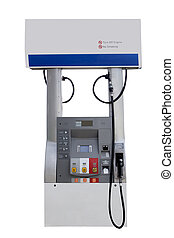 fuel pump station for gasoline isolated on a white...