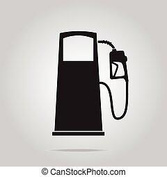 Fuel pump symbol, icon illustration