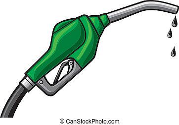 fuel pump vector (gasoline fuel nozzle, gas pump hose, gas ...