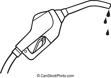 fuel pump vector (gasoline fuel nozzle, gas pump hose, gas ...