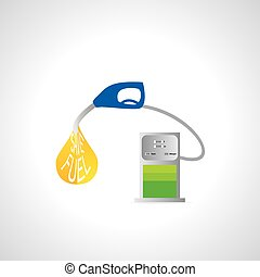 fuel pump with nozzle fuel drop