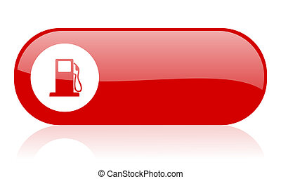 fuel red web glossy icon