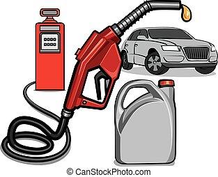 fuel service station