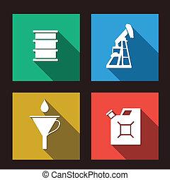 fuel set icons illustration