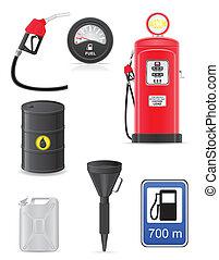 fuel set icons vector illustration
