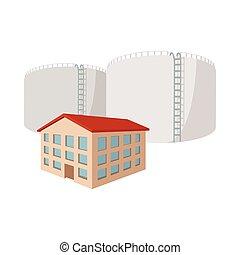 Fuel storage tank cartoon icon
