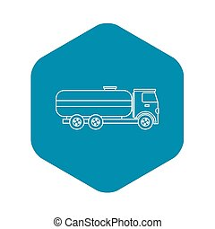 Fuel tanker truck icon, outline style