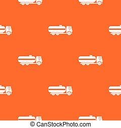 Fuel tanker truck pattern seamless
