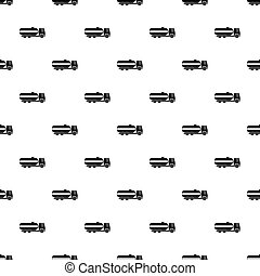 Fuel tanker truck pattern vector
