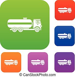 Fuel tanker truck set collection