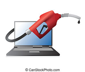 fuel technology illustration design
