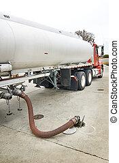 Fuel Truck Delivering Gasoline
