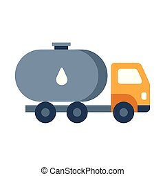 Fuel truck flat illustration