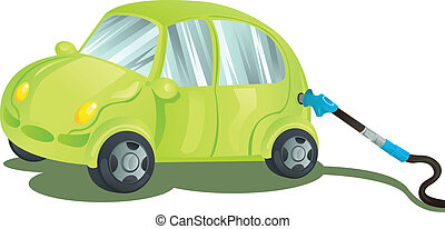 Fueling a car with gasoline