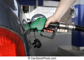 fueling up! - car fueling up
