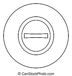 fuente, contorno, círculo, estilo, redondo, icono, mayúscula...