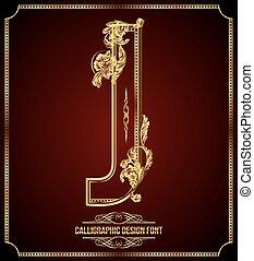 fuente, diseño, calligraphic