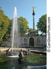 fuente, en el parque