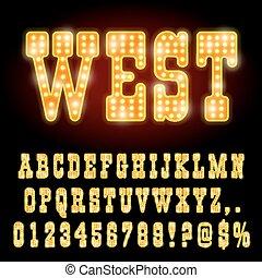 fuente, occidental, noche