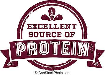 fuente, proteína, excelente