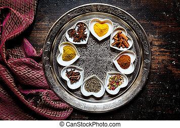 fuente, redondo, besides, tabla, seda, plata, bufanda