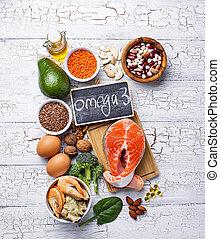 fuentes, ácidos, productos, omega-3