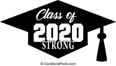fuerte, clase, bandera, 2020