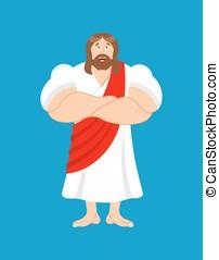 fuerte, jesus., jesucristo, es, powerful., bíblico,...