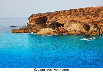 fuerteventura, îles, plage, canari, ajuy