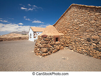 fuerteventura, air, ouvert, intérieur, musée, alcogida, ...