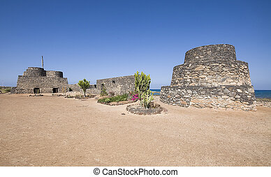 fuerteventura, gammal, fördärvar