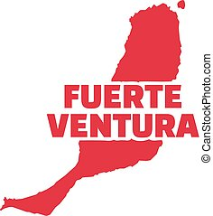 Fuerteventura map with name
