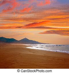 fuerteventura, plage, cofete, îles canaries