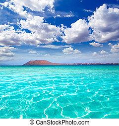 fuerteventura, plage, corralejo, îles canaries